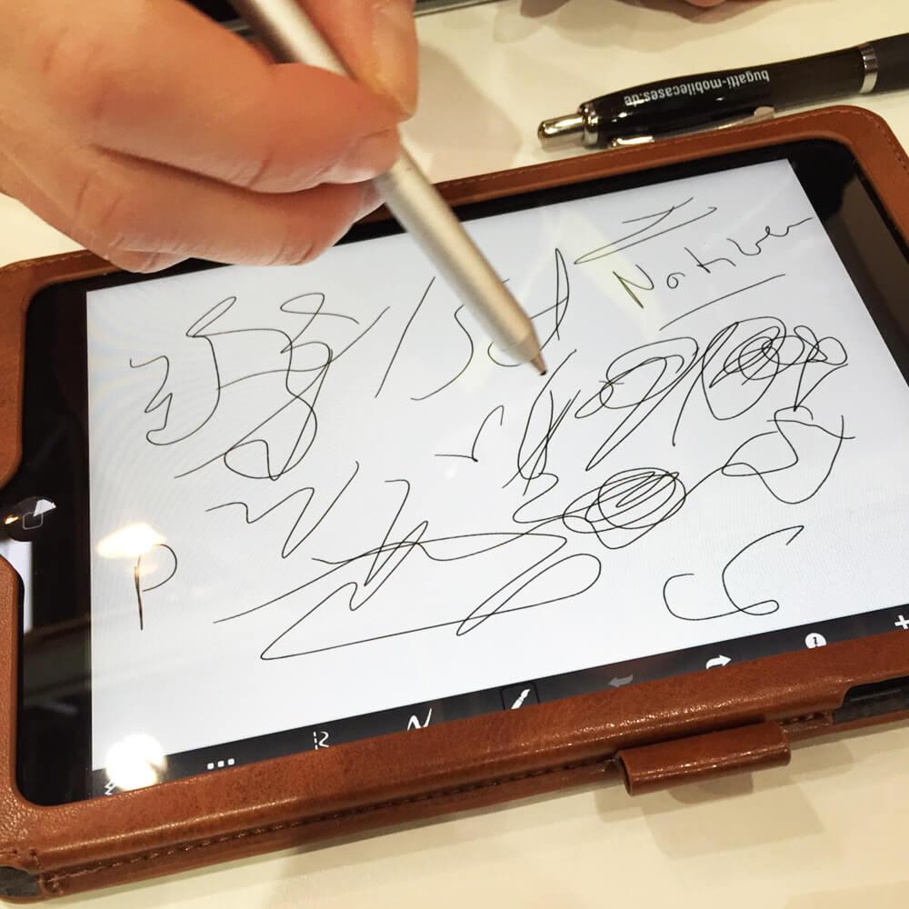 Stylus auf Tablet